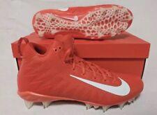 NIB Nike Alpha Menace Pro Mid Premium Football Cleats Orange White Size 12 -$100