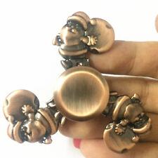 Christmas Santa Claus Round Metal Hand Finger Spinner Fidget EDC Desk Toy Gyro