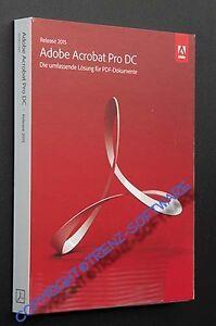 neu: Adobe Acrobat Pro DC 2015 Windows deutsch mit DVD - keine Mietversion -MwSt