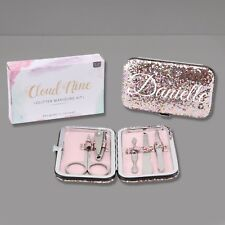 Personalised Manicure Set in Pink Glitter Case - Just Add Name
