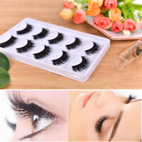 5 Pairs 3D Beauty Thick Long False Mink Eyelashes Fake Eye Lashes Eyelash Fad DS