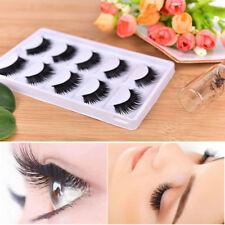 5 Pairs 3D Beauty Thick Long False Mink Eyelashes Fake Eye Lashes Eyelash TK
