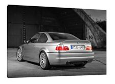BMW E46 M3 CSL - 30x20 Inch Canvas Framed Picture Print Wall Art