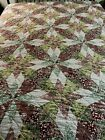 Vintage+World+Without+End+Quilt+89x85+queen+%23945