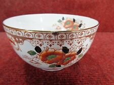 DORIC CHINA Amber / Black & Iron Red Flora Sugar / Slop Bowl c1926 FREE UK POST