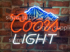 "New Coors Light Mountain Board Beer Man Cave Neon Light Sign 20""x16"""