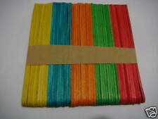 50 wooden lolly sticks  in assorted colors