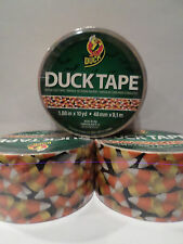 Duck Brand Candy Corn Duct Tape 5 Rolls ~1.88in x 10yd Halloween