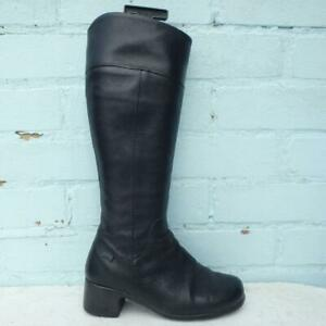 Camper Leather Boots Size UK 4 Eur 37 Womens Shoes Black Boots