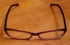 REVLON RV558 Auburn Pearl Eyeglasses Frames Red Brown Plastic Ladies Woman Used