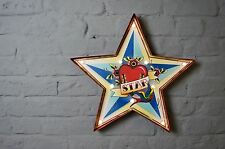 Vintage Style LED Carnival Fairground Star Tattoo Illuminated Sign
