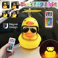 New Cartoon Helmet Yellow Duck Remote Control Car Duck Light Bike Horn Bell