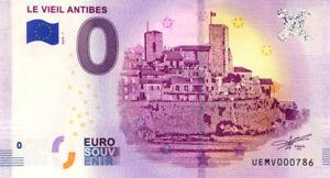 06 ANTIBES Le vieil Antibes, N° de la 8ème liasse, 2019, Billet Euro Souvenir