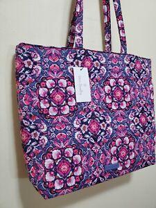 New VERA Bradley MAGENTA MEDALLION Essential Tote / shoulder shopper bag