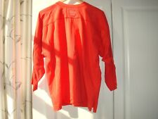 Para Mujer Camisa De Algodón Rojo Vintage Sport Jessica Top Manga Larga Camiseta Medio