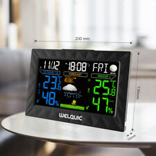 Profi Funk Wetterstation Hygrometer mit 30M Außensensor Thermometer Black DE