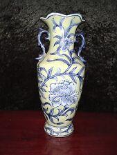 Vintage Seymour Mann crackle look hand painted Vase