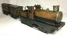 0 Gauge Bing Geared Steam Locomotive & Carriages.