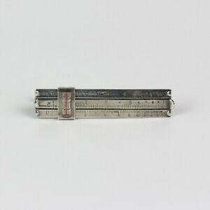 Vintage Sterling Silver Slide Ruler Men's Tie Bar Clip
