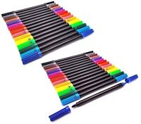 2 x 12pcs Dual Tip Double Ended Felt Tipped Pens Fine/Thin Thick Duel Colouring