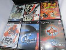 Playstation 2 PS2 Lot Medal of Honor Star Trek Grand Turismo 3 NBA 6 games