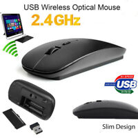 USB Optical Cordless Wireless 2.4 GHz Scroll Mouse Mice+Receiver For PC Laptop