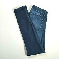 GAP 1969 Womens ALWAYS SKINNY Low Rise Skinny Jeans Dark Wash Size 26 REGULAR