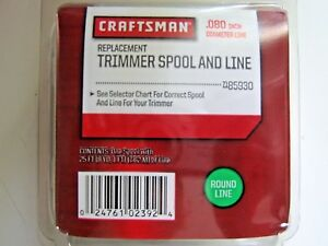 "Craftsman 71- 85930 Replacement Trimmer Spool and Line .080"" Diameter 25 ft."