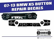 BMW X5 TEMPERATURE CLIMATE CONTROL BUTTON REPAIR DECALS STICKERS