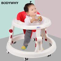 Baby walker round base multifunction stroller first walker toddler foldable