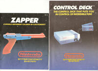 2 NES Nintendo Manuals for Control Deck (Console) & Zapper - Manuals Only