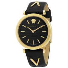 Versace V-Twist Dial Negro De Cuarzo Reloj de señoras de 00619 Vels