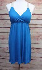 Womens Sleeveless Dress Size M 7-9 No Boundaries Blue Beige Woven Straps Short