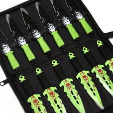 Идеальная точка 12 6' метательные ножи набор кинжал череп из нержавеющей стали, зеленый, черный