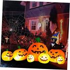 8 FT Long Halloween Inflatable Decorations Pumpkin with Black Cat Wizard HAT,