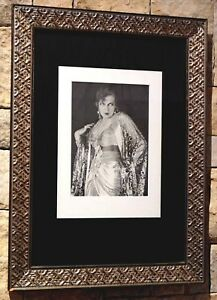 Nicely Framed Silent Film Star Print