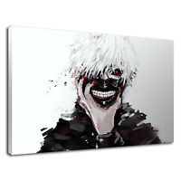 Kaneki Ken Digital Illustration For Boys Bedroom Canvas Wall Art Picture Print