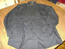 PERFECTION UNIFORMS BLACK SECURITY POLICE L/S SHIRT (NEW) SIZE 44R HEAVY WEIGHT