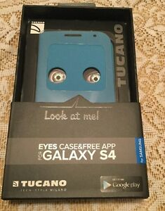 Genuine Tucano Samsung Galaxy S4 Eyes Case - Mood - BLUE
