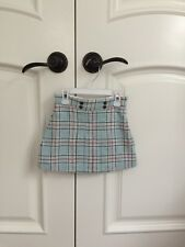 Janie and Jack blue white red plaid skirt size 3