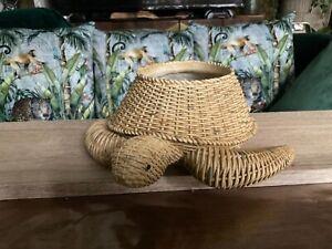 🐢 turtle bowl pot bathroom garden decoration quirky 🐢 rattan effect