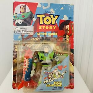 Vintage Disney Toy Think Way Toy Story Buzz Lightyear The Big One Flying Rocket