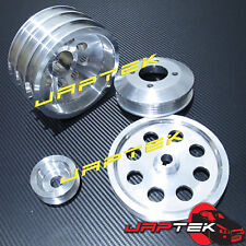 Lightweight Pulley Set For Toyota Supra 86-92 7MGTE 7M-GTE 3.0L MA70 UD Crank