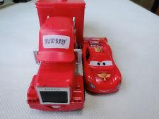 Disney Pixar Cars Mack Hauler Truck & McQueen Metal Car New Loose