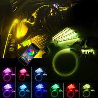 4IN1 6M RGB LED Auto EL Strip Leiste Innenraum Ambientebeleuchtung App bluetooth