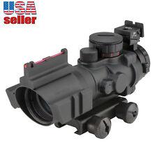 CVLIFE 4X32 Tactical Rifle Scope Tri-illuminate Rapid Range  Fiber Optic Sighter