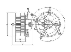 HVAC Blower Motor Front TYC 700170