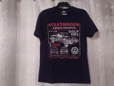 Mens Official Volkswagen T-shirt Blue Colour Size M