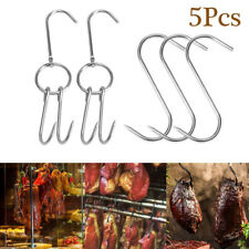 S-Shaped Stainless Steel Hooks Meat Hanger Hanging Beef Duck Barbecue Hooks Home