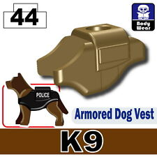 Police K9 Vest (W97) with custom tactical vest  made with real LEGO® dog